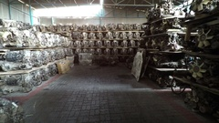 Warehouse Full of Secondhand Engines and Spare Car Parts Stock Footage