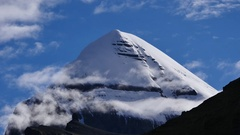 South Holy Kailas Mountain Tibet Home Of The Lord Shiva 4K Stock Footage