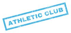 Athletic Club Rubber Stamp Stock Illustration