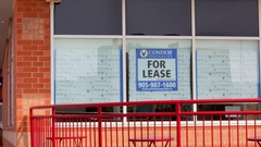 For Lease Sign on building Stock Footage
