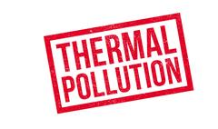 Thermal Pollution rubber stamp Stock Illustration