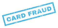 Card Fraud Rubber Stamp Stock Illustration