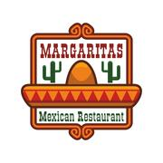 Mexican restaurant vector icon or emblem Stock Illustration