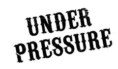 Under Pressure rubber stamp Stock Illustration