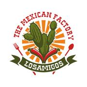 Mexican restaurant vector isolated icon Stock Illustration