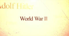 Camera pans over historical terms   World War 2 Stock Footage