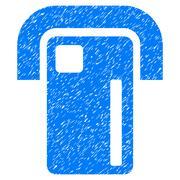 Payment Terminal Grainy Texture Icon Stock Illustration