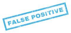 False Positive Rubber Stamp Stock Illustration