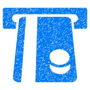 Automated Banking Service Grainy Texture Icon Stock Illustration