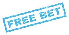 Free Bet Rubber Stamp Stock Illustration