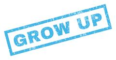 Grow Up Rubber Stamp Stock Illustration