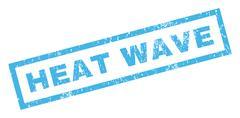 Heat Wave Rubber Stamp Stock Illustration