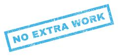 No Extra Work Rubber Stamp Stock Illustration