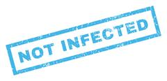 Not Infected Rubber Stamp Stock Illustration