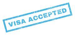 Visa Accepted Rubber Stamp Stock Illustration