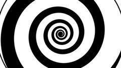 Hypnotic spiral modern slow Stock Footage