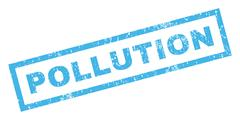 Pollution Rubber Stamp Stock Illustration