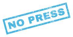 No Press Rubber Stamp Stock Illustration