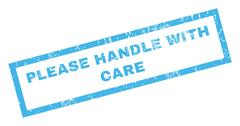Please Handle With Care Rubber Stamp Stock Illustration