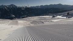 Skis enter the frame Stock Footage