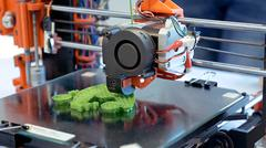 Three dimensional plastic 3d printer Stock Photos