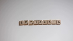 Sexuality scrabble letters Stock Footage