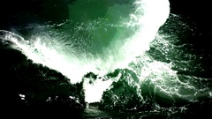 Digital Sea Wave Vj Loop Stock Footage