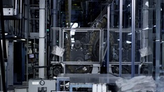 Printing Plant for Newspapers Stock Footage
