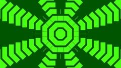 Minimal Green Kaleidoscope Stock Footage