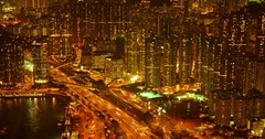 Otherworldly Abstract of Dramatically Lit Urban Traffic in Timelapse Stock Footage