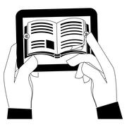 Ebook or book download icon image Stock Illustration