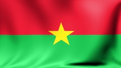 Burkina Faso national flag, new and different ripple effect. The is designed Stock Footage