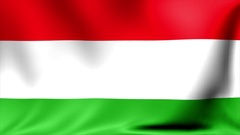 Hungary Flag. Background Seamless Looping Animation. 4K High Definition Video Stock Footage