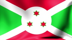 Burundi Flag. Background Seamless Looping Animation. 4K High Definition Video Stock Footage