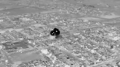 Thermal image of bomb strike in Afghanistan Stock Footage
