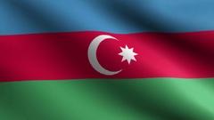 Flag of Azerbaijan - loop Stock Footage