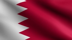 [loopable] Flag of Bahrain. Stock Footage
