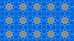 4K Colorful animated kaleidoscope background made of video footage. Stock Footage