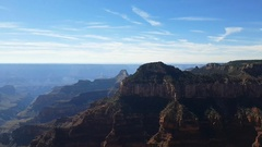 Pan timelapse view from a viewpoint, at Grand canyon north rim in Arizona, .. Stock Footage