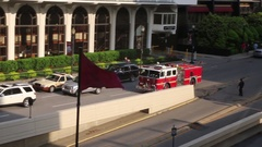 Fire Truck on the way Stock Footage