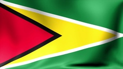 Guyana Flag. Background Seamless Looping Animation. 4K High Definition Video Stock Footage