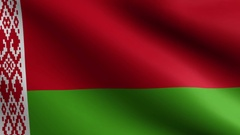 Belarus Flag - Seamless Looping Stock Footage