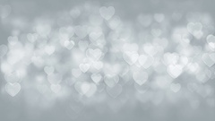 Hearts Particles Background Stock Footage