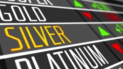 Price of silver on the stock market. Stock Footage