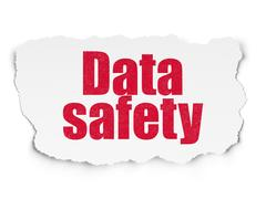 Data concept: Data Safety on Torn Paper background Stock Illustration