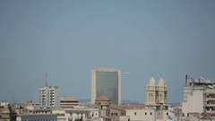 Plane in the sky of Tunis Stock Footage