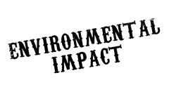 Environmental Impact rubber stamp Stock Illustration