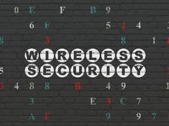 Safety concept: Wireless Security on wall background Piirros
