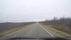 Timelapse hyperlapse of driving on route 92 from Karigasniemi towards Ivalo.. Stock Footage