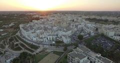 Aerial drone shooting on Locorotondo Puglia Italy Stock Footage